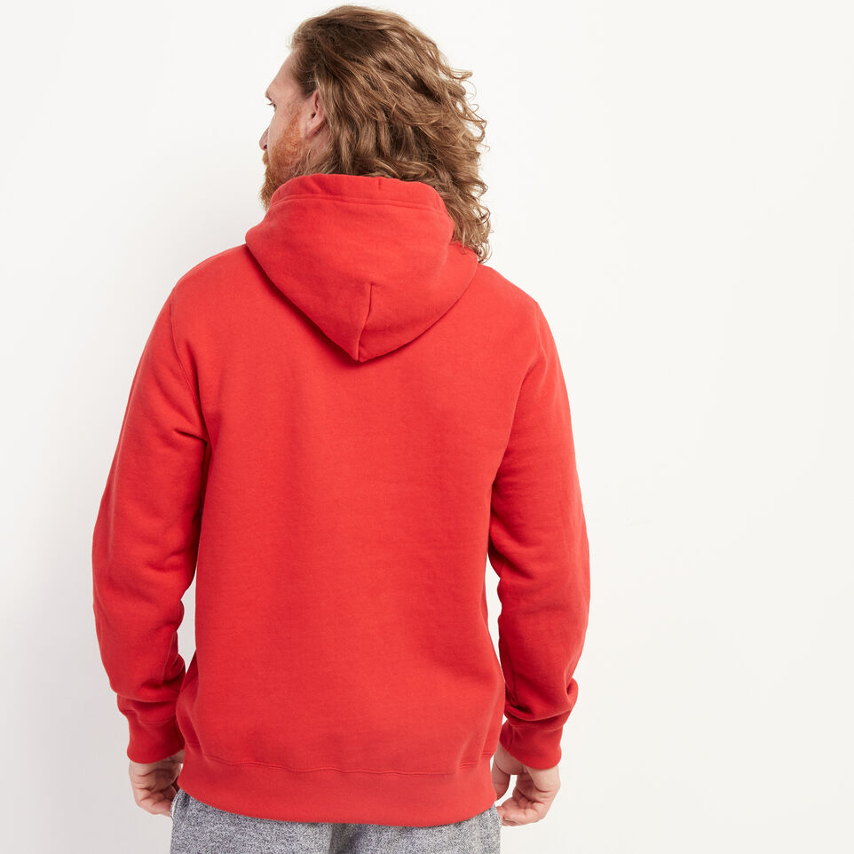 Roots-New For July Men-Blazon Hoody-Sage Red-D