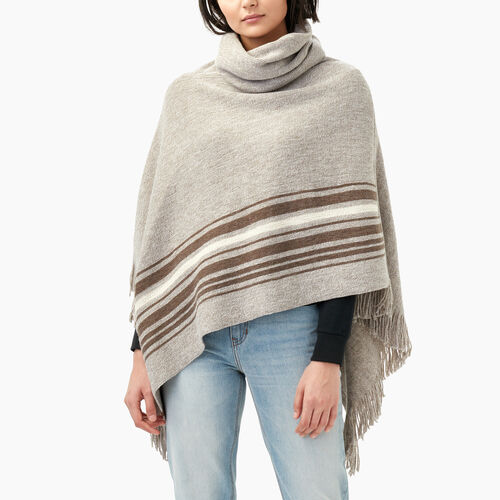Roots-Winter Sale 30-40% Off - View All-Francis Poncho-Flaxseed Mix-A