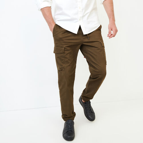 Roots-Clearance Men-Easy Cargo Jogger-Fatigue-A