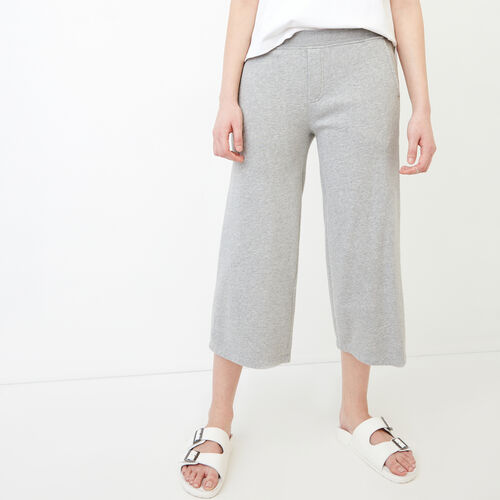 Roots-Women Categories-Melange Terry Sweatpant-Grey Mix-A