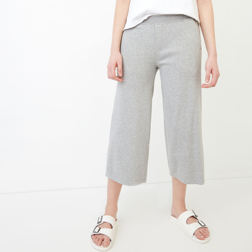 Roots-Sweats Sweatpants-Melange Terry Sweatpant-Grey Mix-A