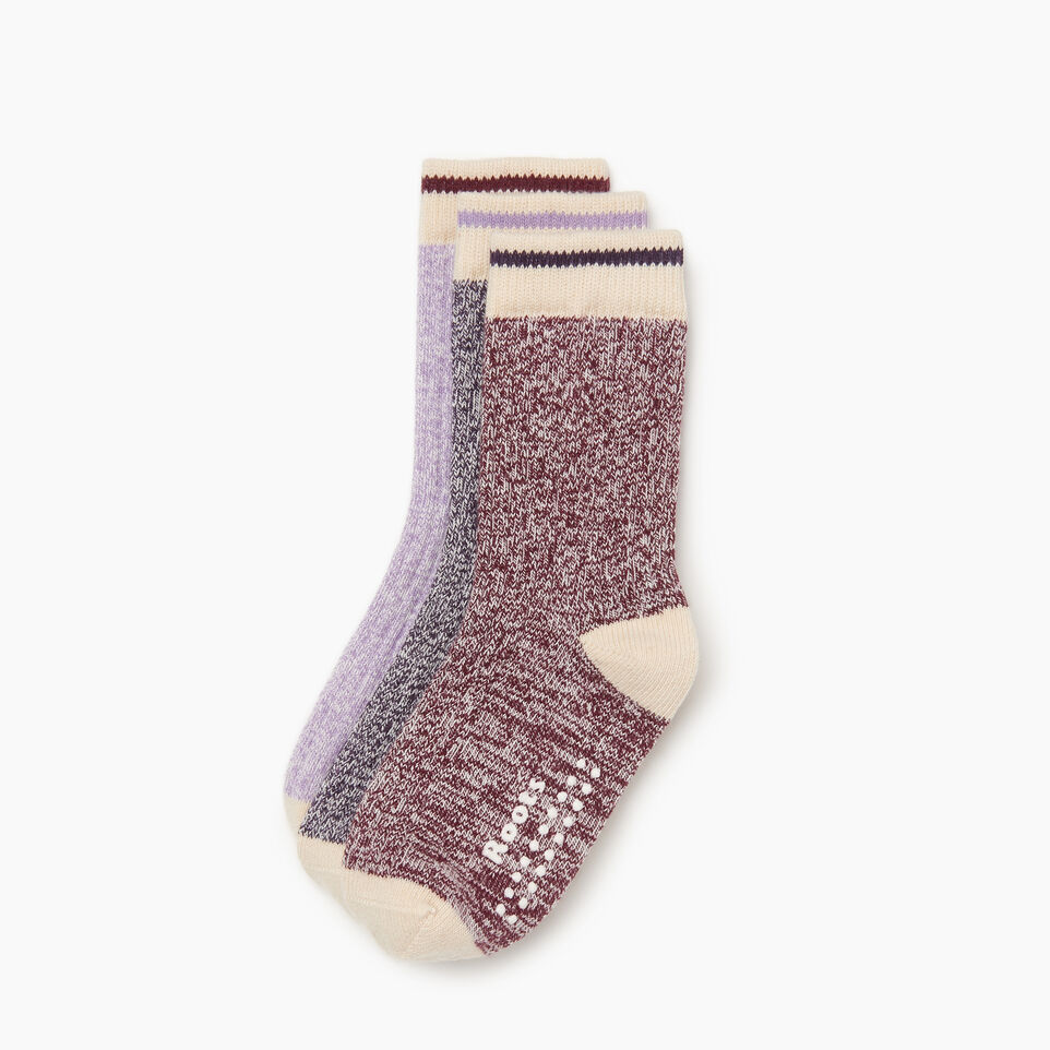 Roots-Kids Our Favourite New Arrivals-Toddler Cabin Sock 3 pack-Purple-B