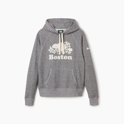 Roots-Sweats Women-Boston Kanga Hoody - Womens-Salt & Pepper-A