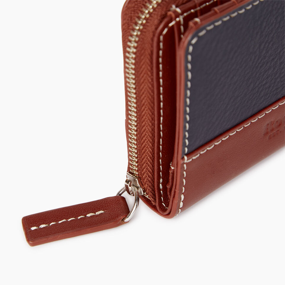 Roots-Leather Our Favourite New Arrivals-Small Zip Wallet-Ultramarine/oak-D