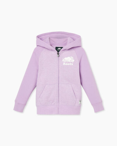 Roots-Sweats Toddler Girls-Toddler Original Full Zip Hoody-Lupine Pepper-A