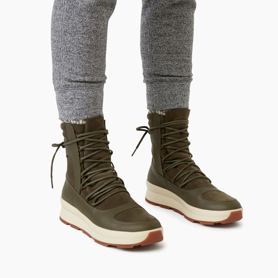 Roots-Clearance Footwear-Womens St Laurent Boot-Dusty Olive-B