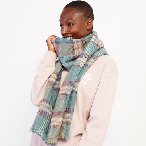 Roots-New For October Plaids-Cumberland Scarf-Arctic Sky Mix-A