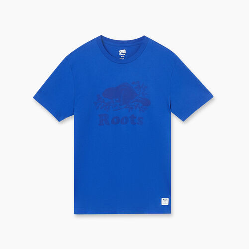 Roots-Sale Tops-Mens Watercolour Cooper T-shirt-Mazarine Blue-A