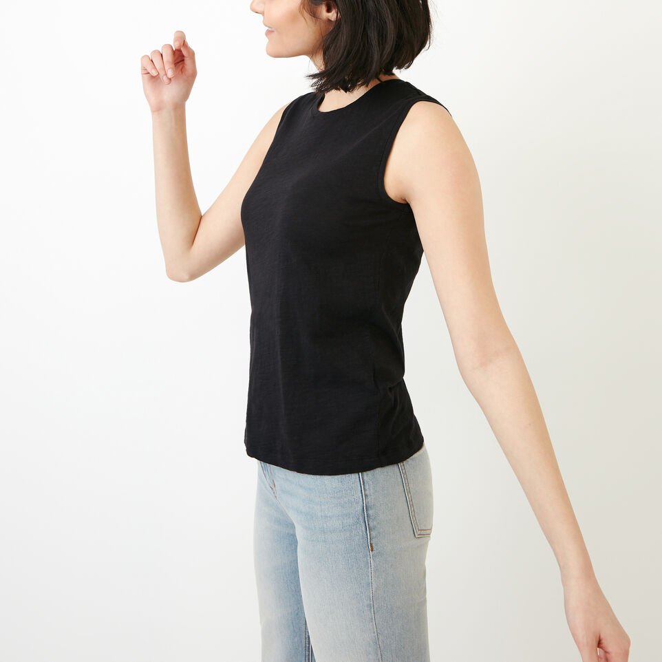 Roots-Women Our Favourite New Arrivals-Lorne Muscle Tank Top-Black-C