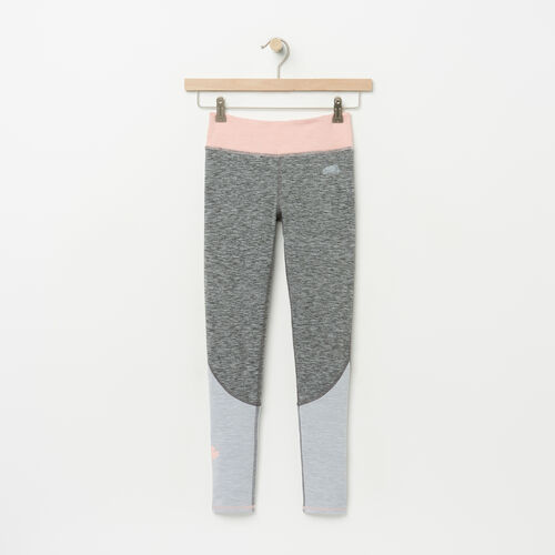 Roots-Kids Girls-Girls Lola Active Colourblocked Legging-Charcoal Mix-A