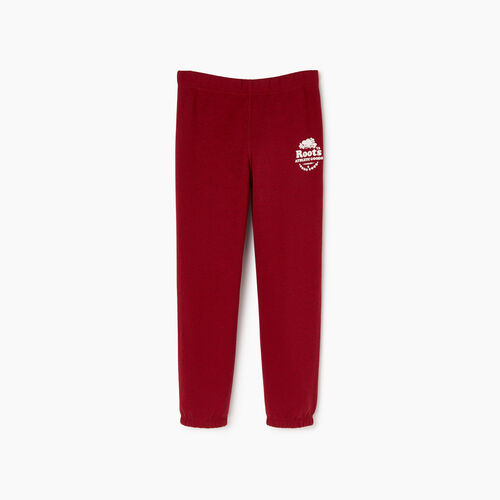 Roots-Kids Sweats-Boys Laurel Sweatpant-Cabin Red Mix-A