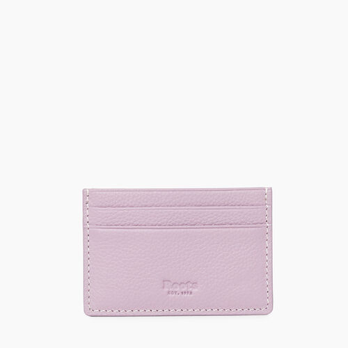 Roots-Women Leather Accessories-Card Holder Cervino-Mauve-A