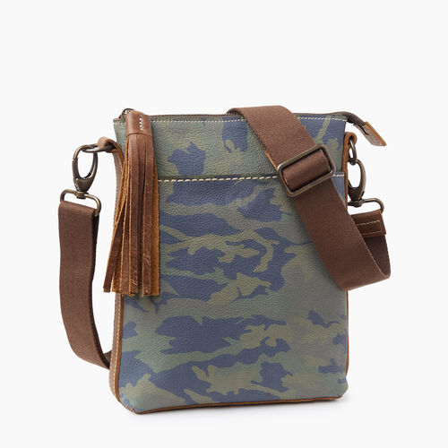 Roots-Women Leather-Camo Crossbody-Green Camo-A