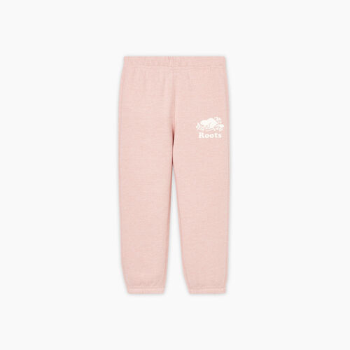 Roots-Sweats Toddler Girls-Toddler Original Roots Sweatpant-Pale Mauve Pepper-A