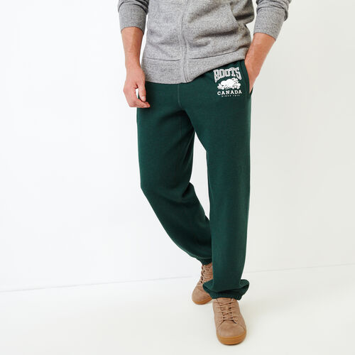 Roots-Men Categories-Classic Relaxed Sweatpant-Park Green Mix-A