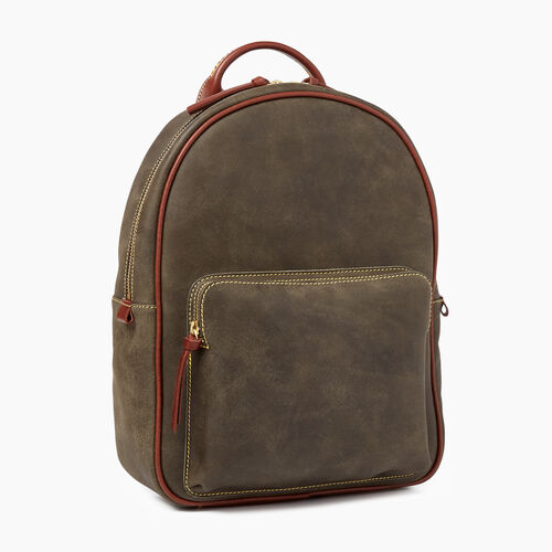 Roots-Leather  Handcrafted By Us Tribe Leather-Chelsea Pack Tribe-Pine-A