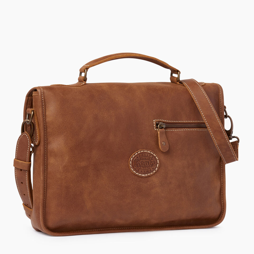Roots-Leather  Handcrafted By Us Our Favourite New Arrivals-Small School Bag-Natural-C