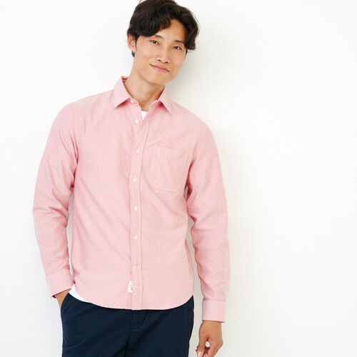 Roots-Men Shirts & Polos-Napanee Oxford Shirt-English Rose-A