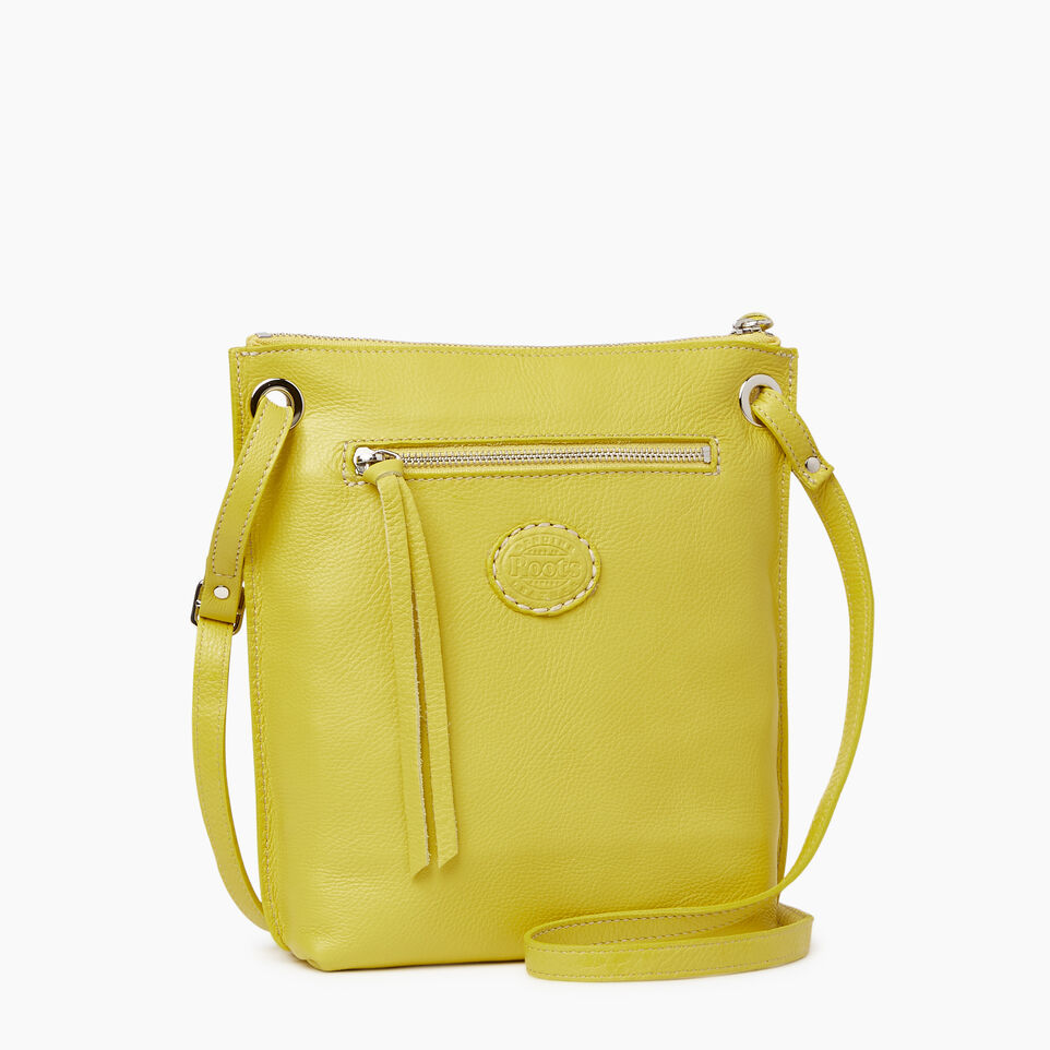 Roots-Leather  Handcrafted By Us Categories-Festival Bag-Yellow-C