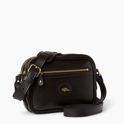 Roots-Leather Handbags-Classic Camera Bag-Black-A