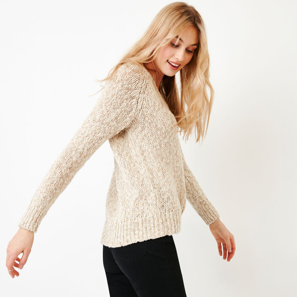Roots-Women Our Favourite New Arrivals-Laurel V Neck Sweater-Oatmeal Mix-C