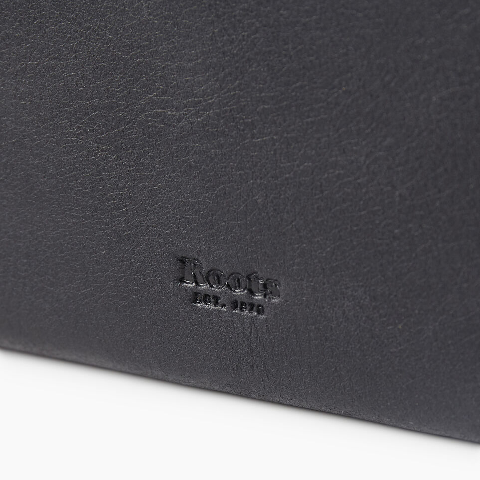 Roots-Leather Categories-Small Canmore Wallet Tribe-Jet Black-D
