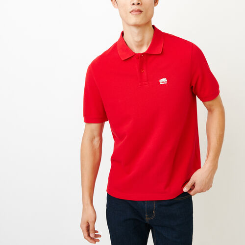 Roots-Men Shirts & Polos-Heritage Pique Polo-Racing Red-A