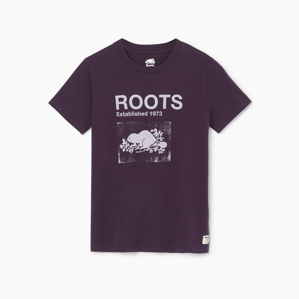 Roots-Women Clothing-Womens Canmore T-shirt-Nightshade-A