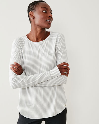 Roots-Women Bestsellers-Journey Long Sleeve Top-Vapour Grey-A
