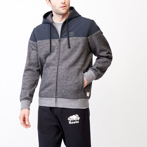 Roots-Men Categories-Mt. Odin Zip Hoody-Charcoal Pepper-A