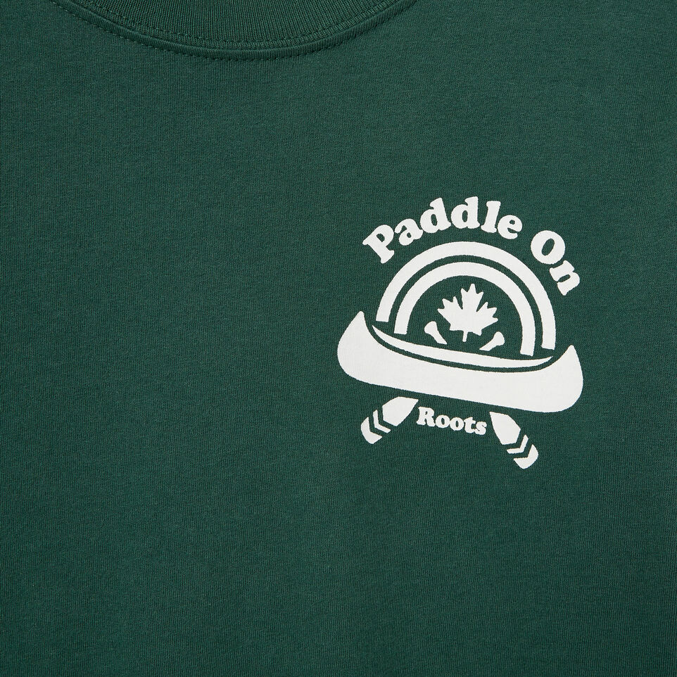 Roots-Kids Our Favourite New Arrivals-Boys Paddle On T-shirt-Hunter Green-D