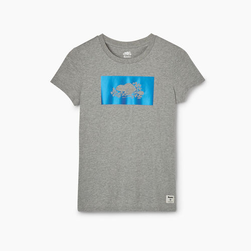 Roots-Women Graphic T-shirts-Womens Chroma Cooper T-shirt-Grey Mix-A