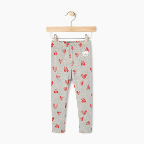 Roots-Kids Bottoms-Toddler Cooper Hearts Legging-Grey Mix-A
