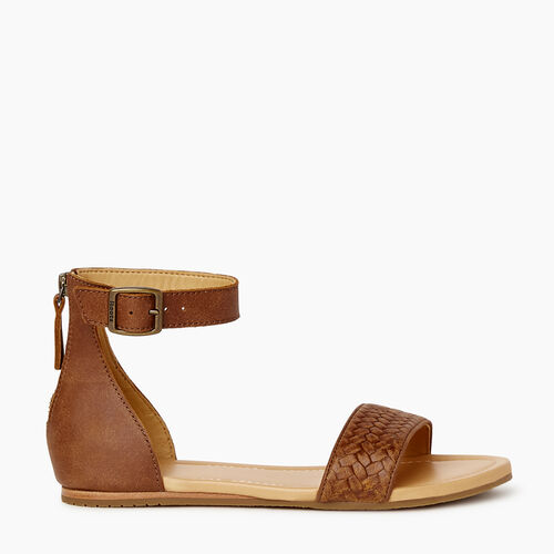 Roots-Footwear Categories-Womens Cranston Ankle Strap Sandal-Natural-A