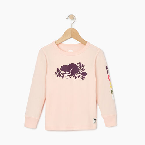 Roots-Kids Tops-Toddler Roots Remix T-shirt-English Rose-A