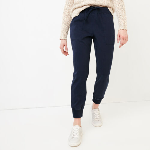 Roots-Women Pants-Essential Jogger-Navy Blazer-A