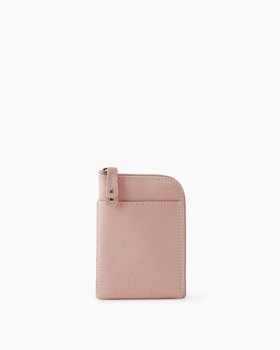 Roots-Leather New Arrivals-Passport Phone Pouch Cervino-Pink Pearl-A