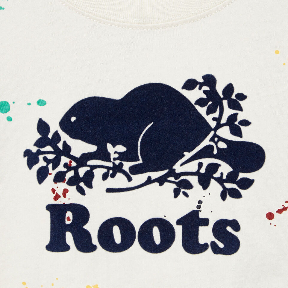 Roots-Kids Our Favourite New Arrivals-Baby Splatter Aop T-shirt-Cannoli Cream-D