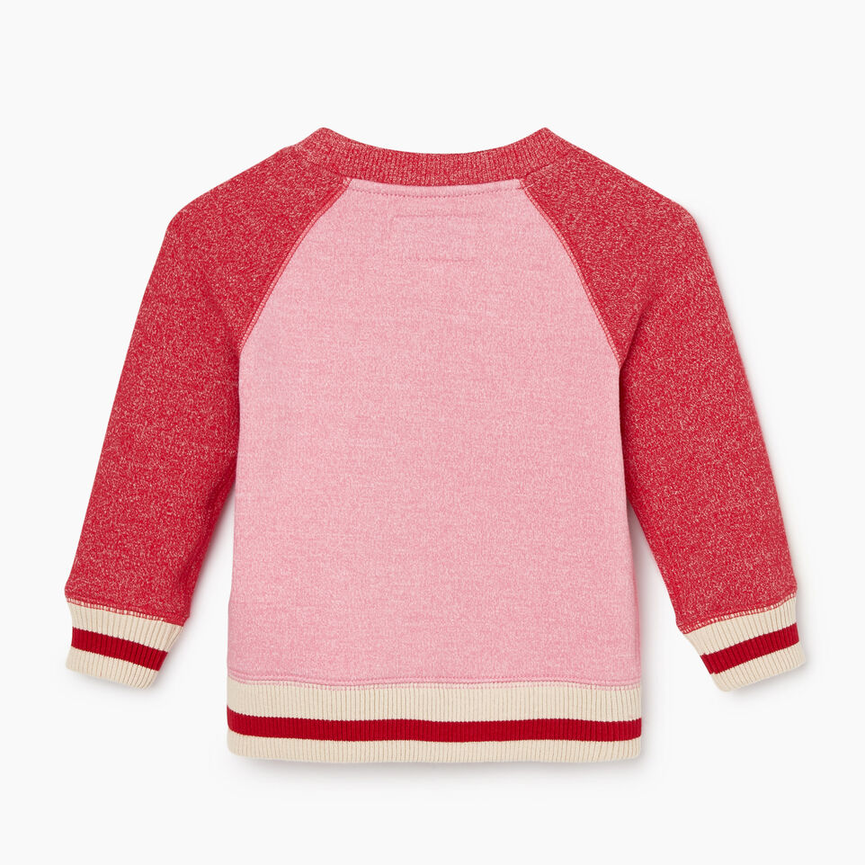 Roots-Sale Kids-Baby Roots Cabin Cozy Sweatshirt-Cashmere Rose Pepper-B