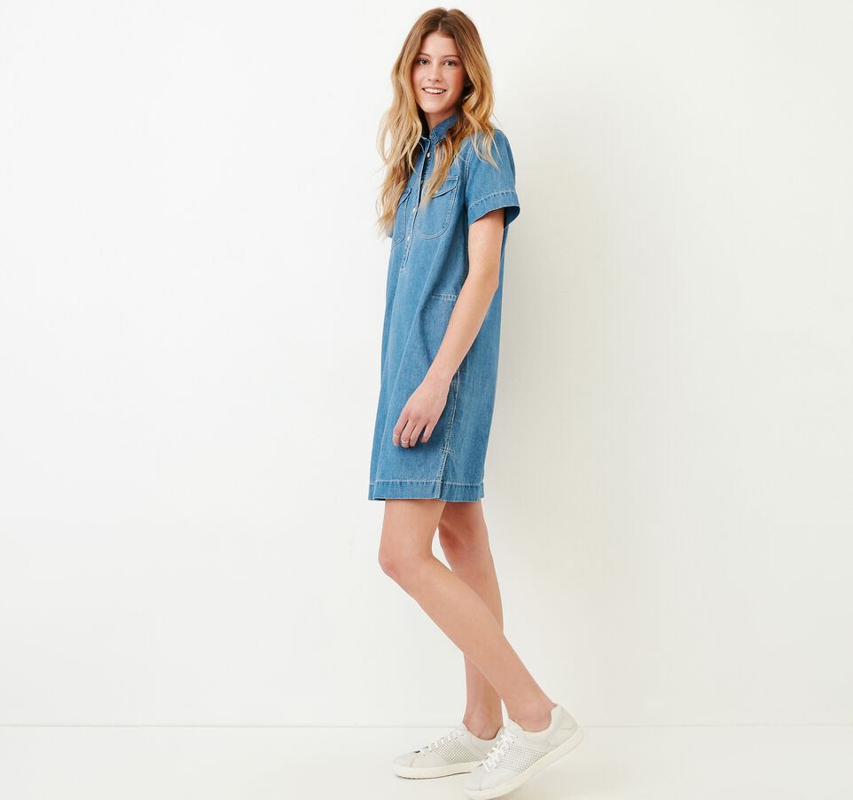 Roots-undefined-Sherbrook Chambray Dress-undefined-C