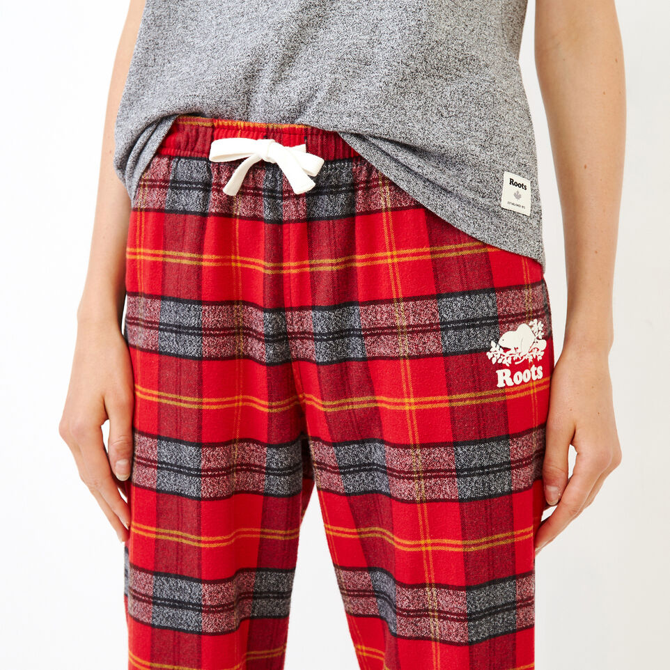 Roots-Women Our Favourite New Arrivals-Inglenook Lounge Pant-Cabin Red-E