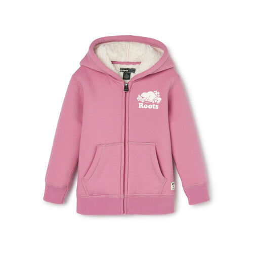 Roots-Kids Toddler Girls-Toddler Sherpa Lined Full Zip Hoody-Mauve Orchid-A