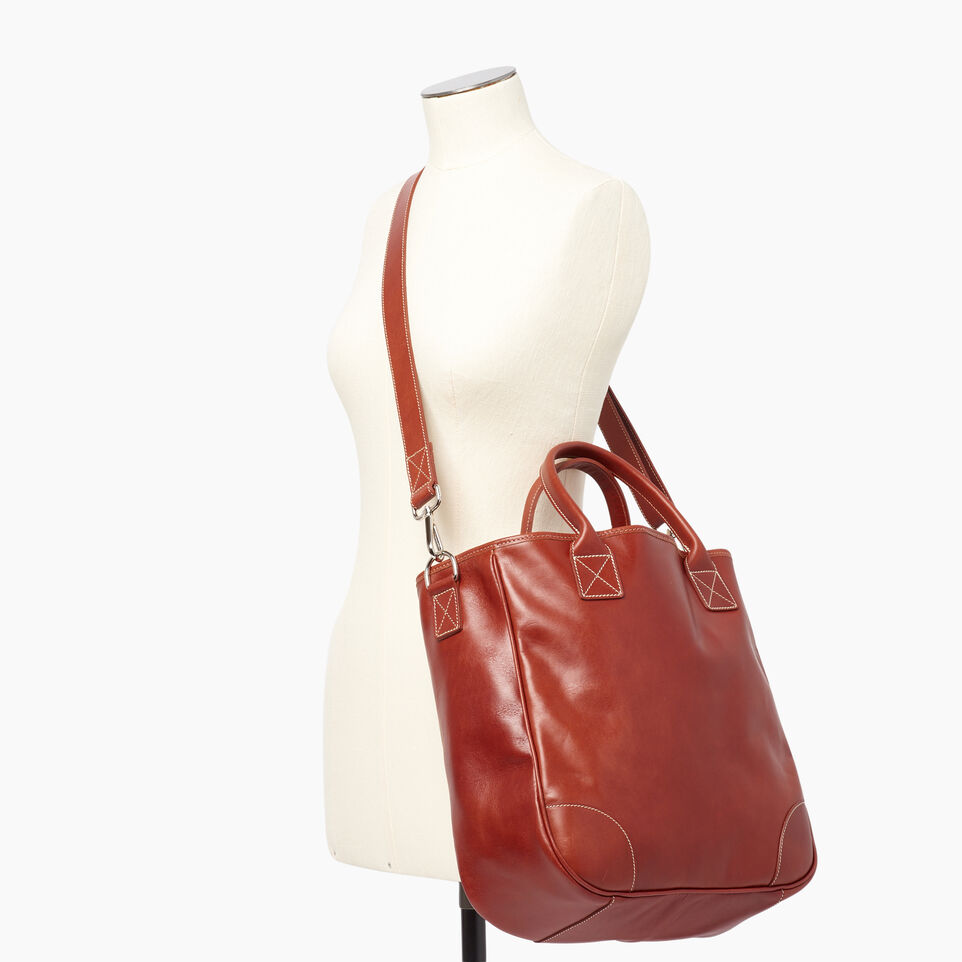 Roots-Leather  Handcrafted By Us Our Favourite New Arrivals-Jasper Tote Horween-Cognac-B