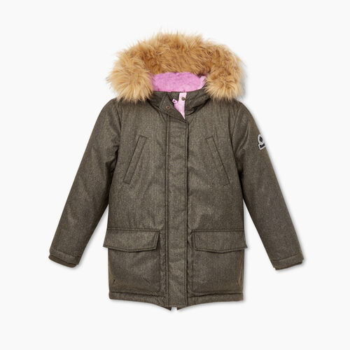 Roots-Kids Jackets-Girls North Winds Parka-Fatigue-A