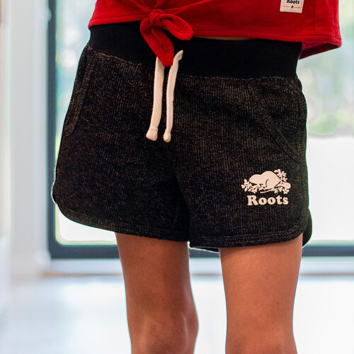Roots-Kids New Arrivals-Girls Pepper Dolphin Short-Black Pepper-A