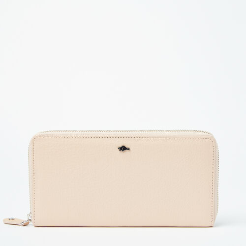 Roots-Leather Wallets-Zip Around Wallet Prince-Blush-A