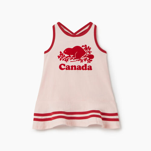 Roots-Kids Baby Girl-Baby Canada Tank Dress-English Rose-A