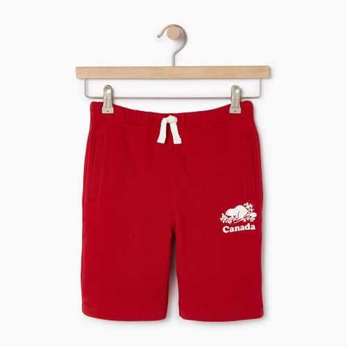 Roots-Sale Boys-Boys Canada Short-Sage Red-A