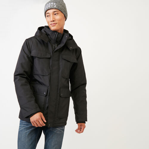 Roots-Men Jackets & Outerwear-Roots Sustainable Parka-Black-A