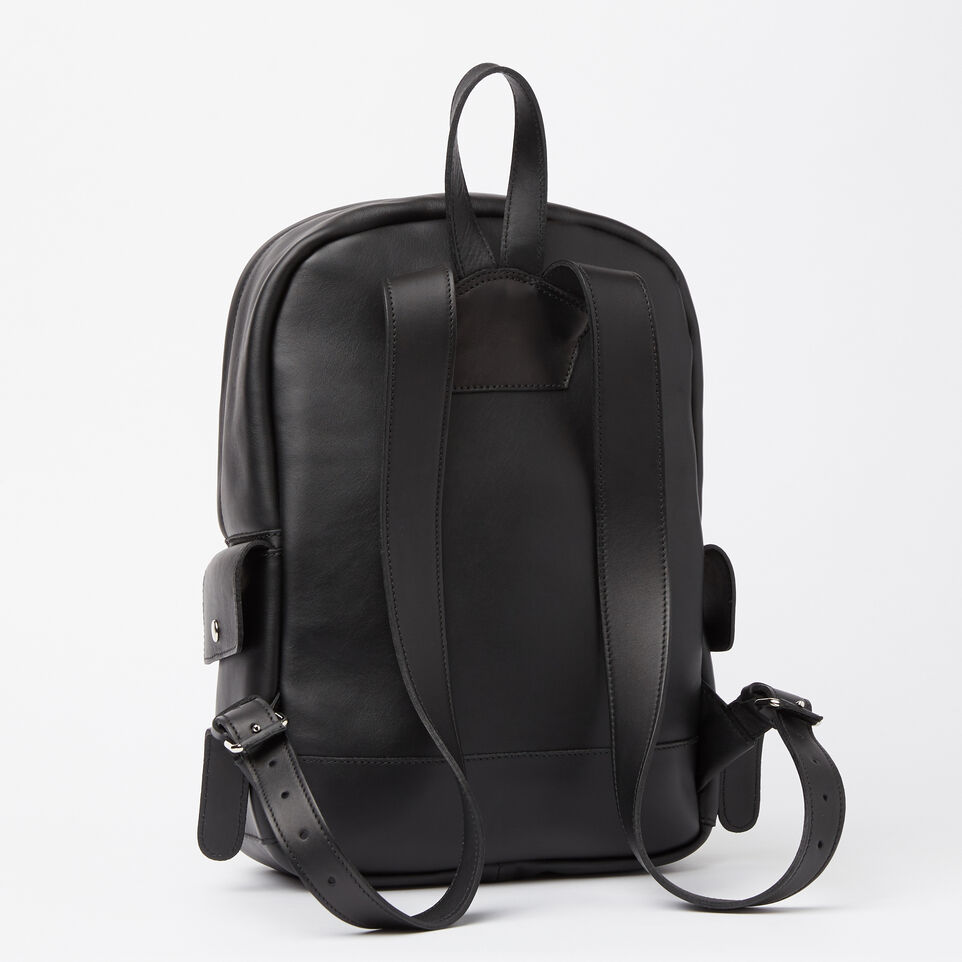 Roots-Winter Sale Leather-Central Pack Box-Black-C